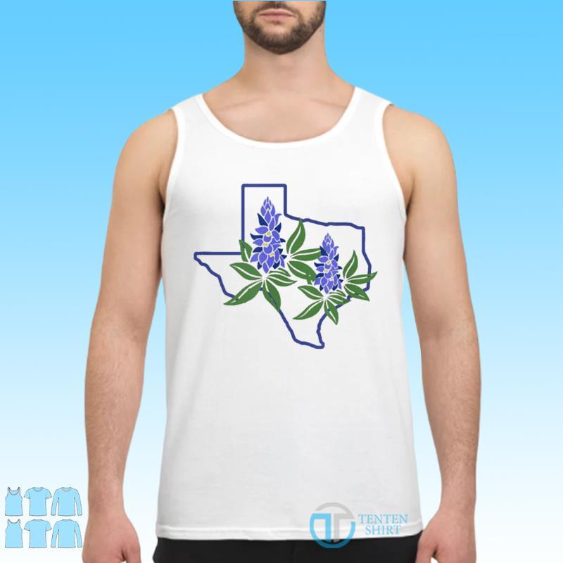 Official Texas Bluebonnet Wildflowers Shirt Tank top