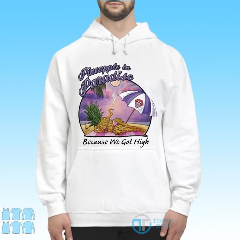 Pineapple In Paradise Because We Got High Shirt Hoodie
