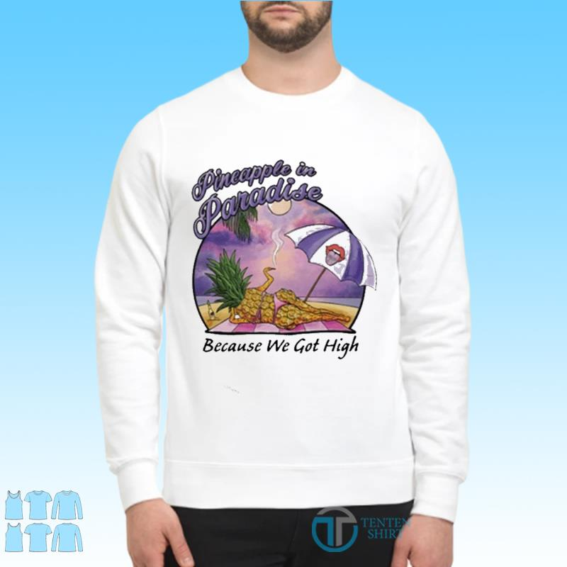 Pineapple In Paradise Because We Got High Shirt Sweater