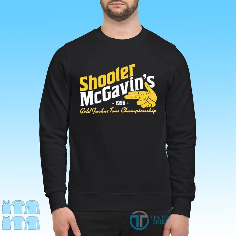 Shooter McGavins Gold Jacket Tour Championship Shirt Sweater
