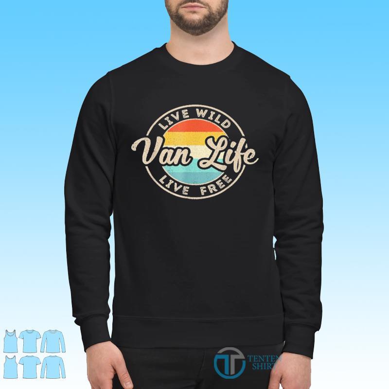 Van Life Clothing Retro Vintage Van Dwellers Vanlife Nomads Shirt Sweater