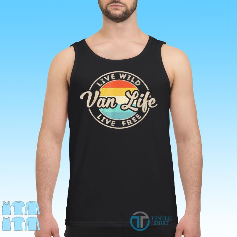 Van Life Clothing Retro Vintage Van Dwellers Vanlife Nomads Shirt Tank top