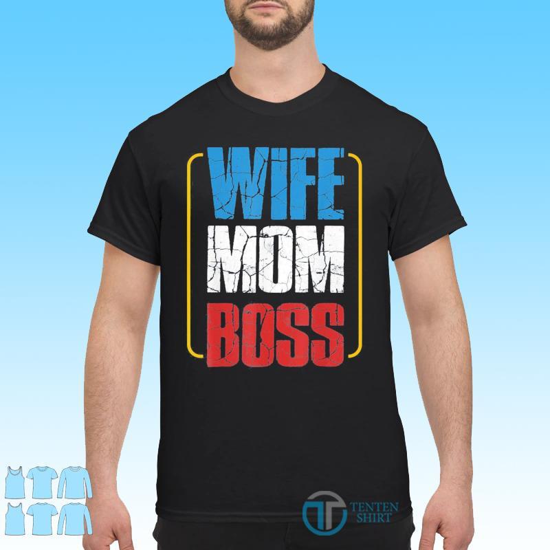 Wife Mom Boss Cute Mom Life Classic T-Shirt