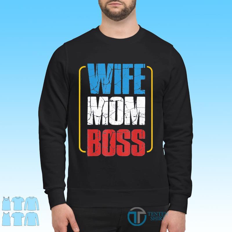 Wife Mom Boss Cute Mom Life Classic T-Shirt Sweater
