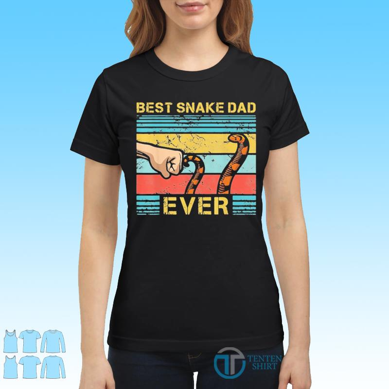 World's Best Snake Dad Funny Snake Enthusiast Father Vinatge Shirt Ladies tee