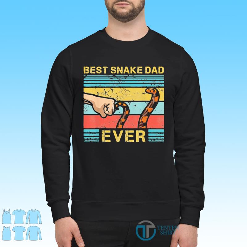 World's Best Snake Dad Funny Snake Enthusiast Father Vinatge Shirt Sweater