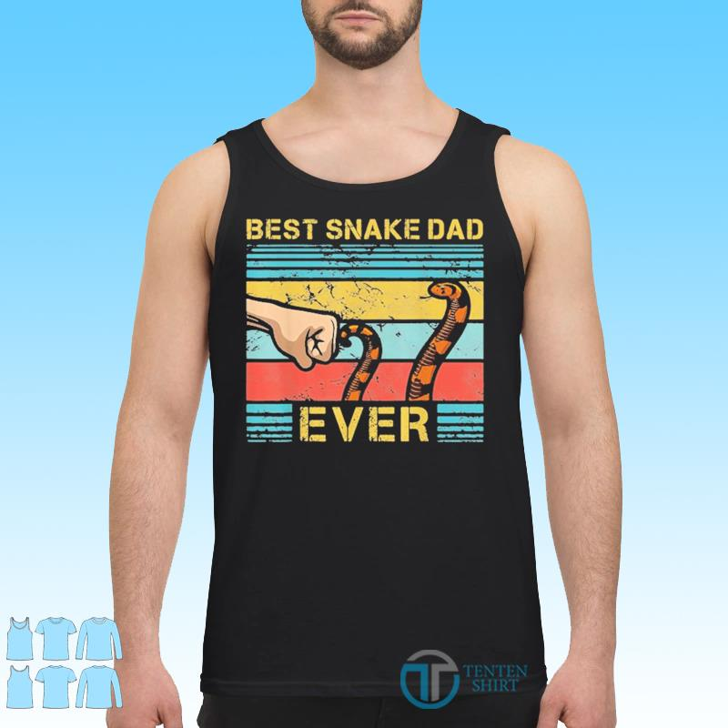 World's Best Snake Dad Funny Snake Enthusiast Father Vinatge Shirt Tank top