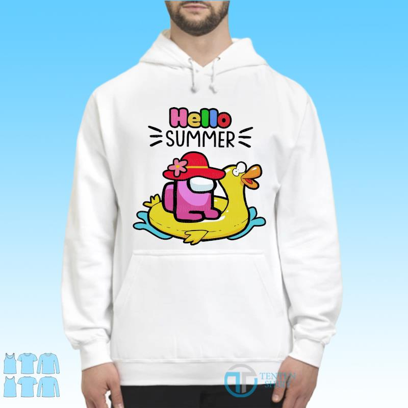 Official Cute Among Us - Hello Summer 2021 Shirt Hoodie
