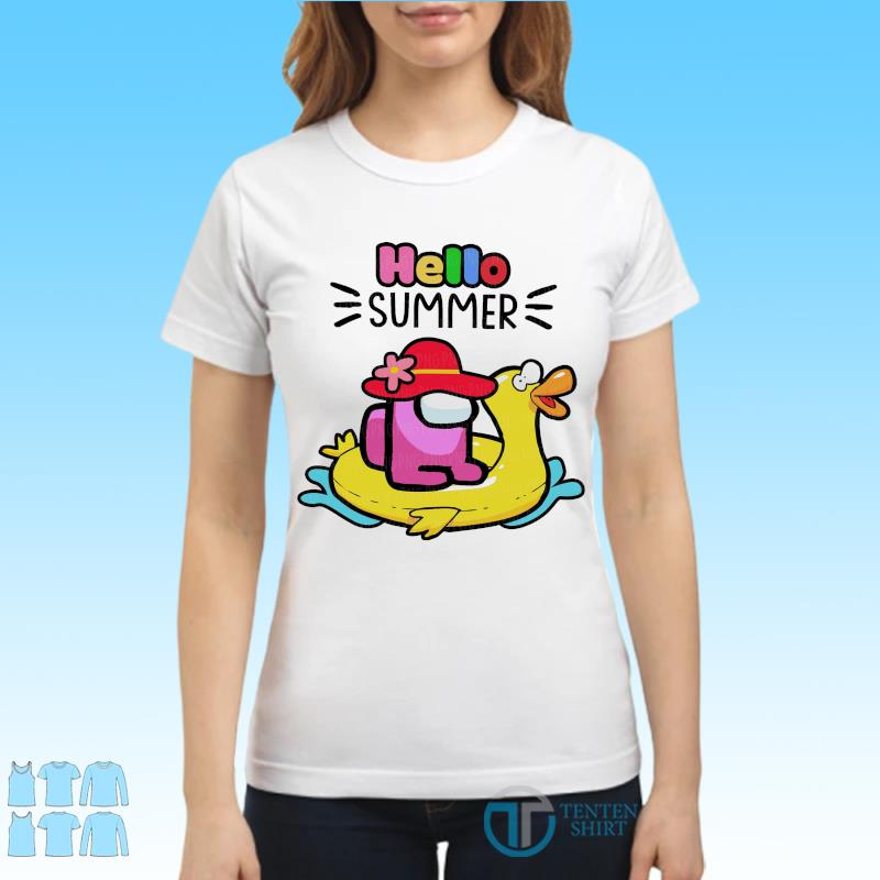 Official Cute Among Us - Hello Summer 2021 Shirt Ladies tee