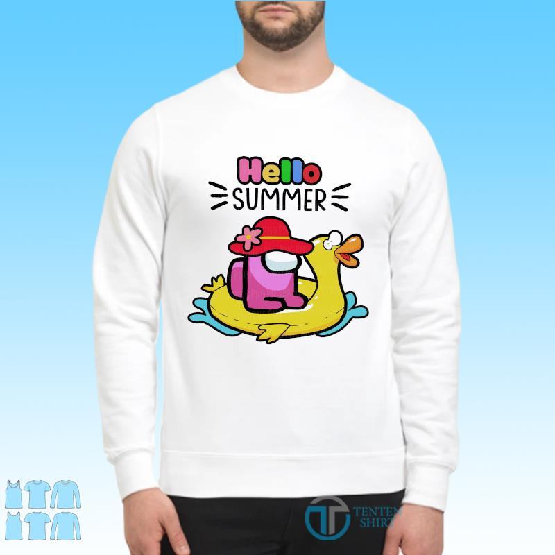 Official Cute Among Us - Hello Summer 2021 Shirt Sweater